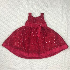 Love red sparkle princess bow dress toddler 2T